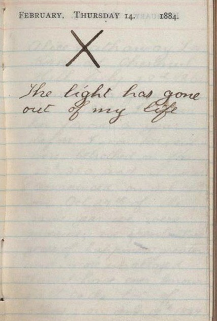 pass-that:  Teddy Roosevelt's diary entry from the day his wife died