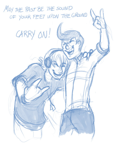 "A buddy drawing! Song lyrics from the uber catchy Carry On by fun. from their new album, ""Some Nights."" Go check it out!"