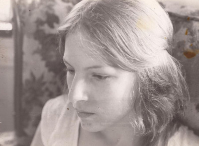 My mother in the late seventies. I love this picture. :3
