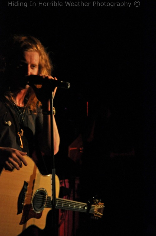 Travis Clark of We The Kings. End of the World Tour 2.22.12 @ El Corazon in Seattle.