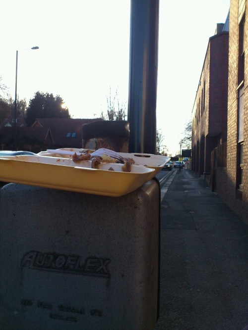This is London: Abandoned kebab, Harrow.