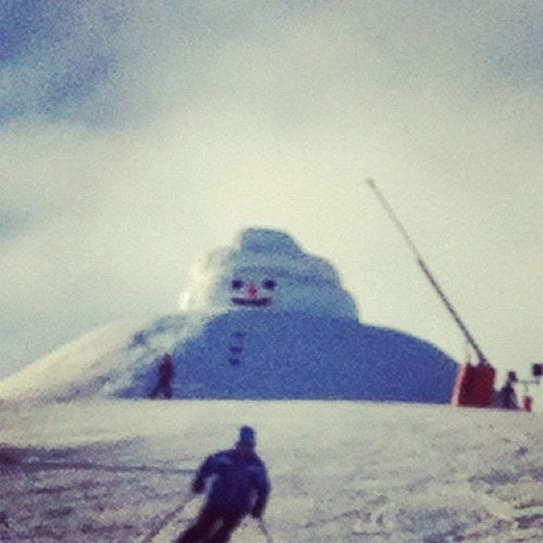 #funny #snowman #skiing #winter  (Taken with instagram)