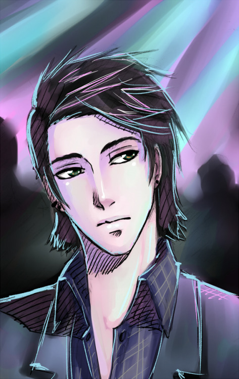 hkigeki:  Random sketch of a random guy in a club X3