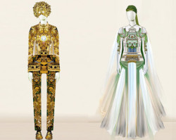 Fashion designer Mary Katrantzou has collaborated with Pablo Bronstein for his exhibition 'Pablo Bronstein: Sketches for Regency Living' which starts today at ICA, London.