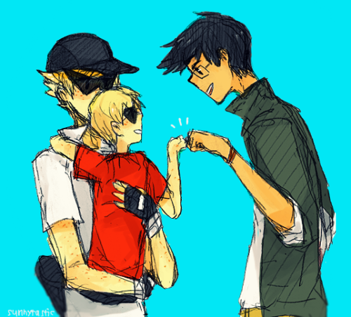 sunnytastic:  I like the idea of single brother Dirk 6_9 also jake being really tall sdkjgskj