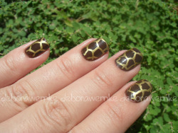 fofuricerules:  Nail 13 - Estampa Animal ~le desafio~ on Flickr. 13ª Nail do Desafio das 31 unhas! Giraffe Nails/ Animal Print XOXO ♥ _______________________________________________________________________DéboraWernke | FofuriceRules ~ blog, ~ facebook, ~ twitter, ~ tumblr, ~ youtube,