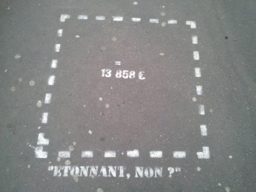 So, this is how much a square metre costs in Paris' 6th arrondissement (St Germain des Pres). Etonnant, non?!