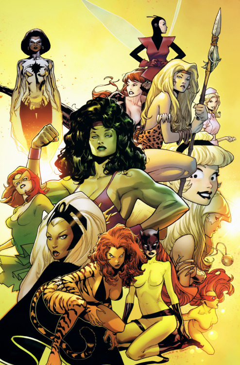 fumettimarvel:  fumettierotici:   Women of Marvel: Celebrating Seven Decades Omnibus cover by Olivier Coipel   ,