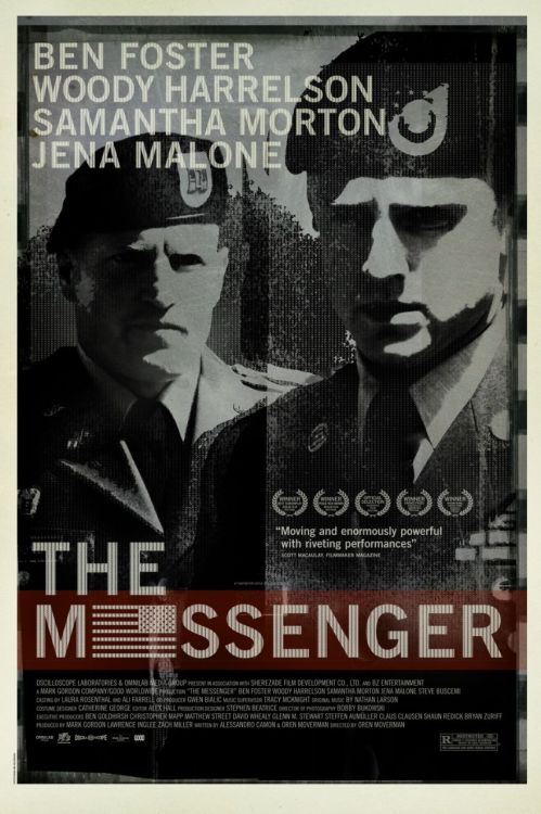#36 The Messenger (2009) Dir. Oren Moverman  I first became aware of Ben Foster around the same time I became aware of Ryan Gosling and have always seen their careers running in parallel. I knew one, if not both of them would end up doing something great and Gosling seems to have skipped way ahead in that department but The Messenger proves that Foster is catching up. He's really great in this, he has a knack for playing characters uncomfortable in their surroundings, a ticking time bomb of fury that never goes off. He's the perfect foil to Woody Harrelson who is exactly the opposite, always seems comfortable and is constantly exploding. Harrelson was nominated for Best Supporting Actor for this and deservedly so. He's one of Hollywood's best kept secrets. He always pops up where you least expect him but always impresses (does anybody else always forget he was in No Country for Old Men?). I'm excited to see Rampart which he stars in and is also directed by Moverman who handles this film with lots of confidence and panache. He has no obvious style to speak of but he definitely leaves his fingerprints on every scene. The use of long takes is really quite genius. Very impressed.