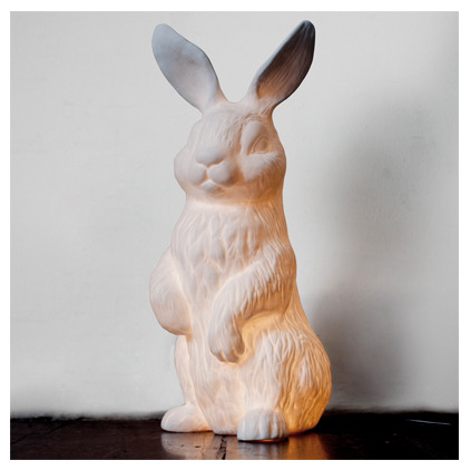I am TOTALLY going to have one of these bunny lamps from Heima on my desk next to my computer! SO CUTE.