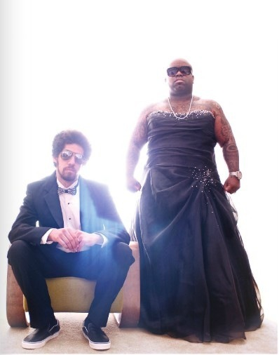 pompadoursandpincurls:  grrlyman:  fashionistazapatista:  Gnarls Barkley  Gnarls Barkley in a dress. Gnarls motherfucking Barkley in a dress. GNARLS MOTHERFUCKING BARKLEY IN A MOTHERFUCKING DRESS.  Hell yes.  THANK YOU The only 'famous' men I see in drag on my dash are thin and white.  HE IS HOT AS FUCK.