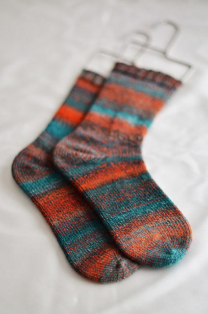 "Freshly squeezed ""handspun"" socks!! Stunning isnt it?"