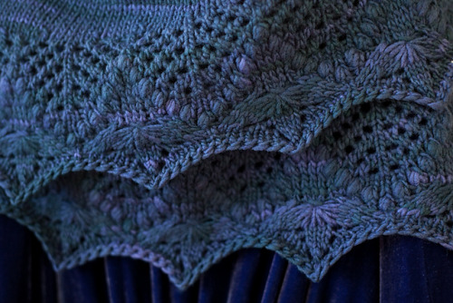 Echo Flower Shawl Pattern.