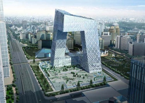 The China Central Television Headquarters. Beijing, China.