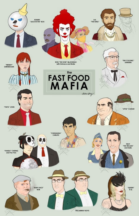 theamericankid:  The Fast Food Mafia