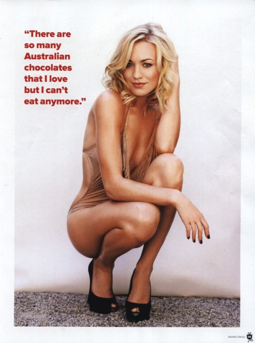 "Yvonne Strahovski. ""There are so many Australian chocolates that I love but I can't eat anymore""."