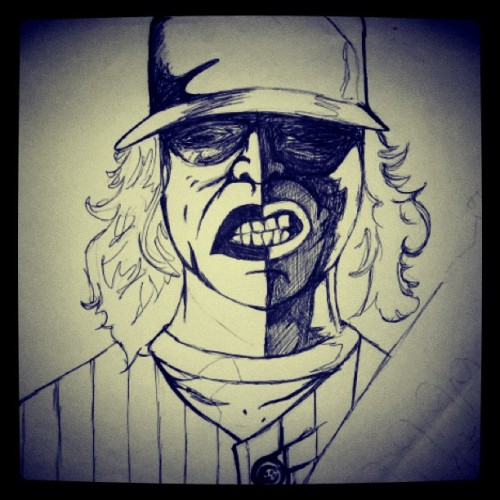 Taken with instagram Quick Sketch, Based on the Baseball Furies, from the Warriors.