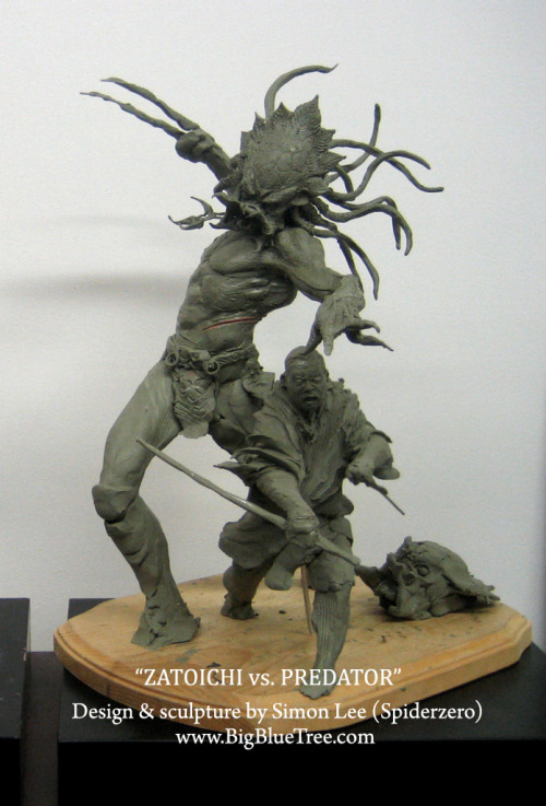 (via Simon Lee Spiderzero Sculptor - BigBlueTree.com - Creature Designer SpiderZero Big Blue Tree Spider Zero Garage Kit Simon Spiderzero Lee)