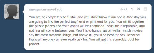 l3dge:  this is the sweetest anon ever, whoever you are thank you. You really made my morning better and I'm so happy you took your time to send me that message. Thank youu <3