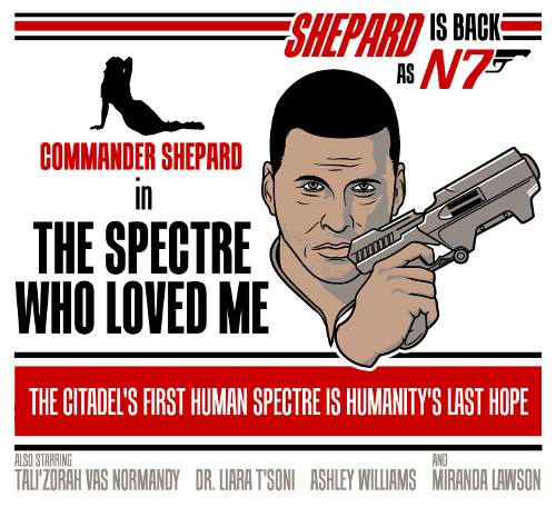 """The Spectre Who Loved Me"" available as T-shirts, Hoodies and Prints. Redbubble / Society 6 by adho1982"