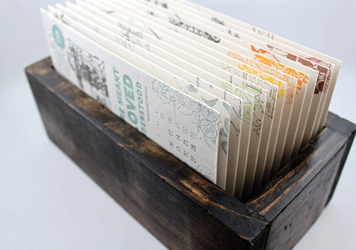DIY Daily Letterpress Calendar Journal