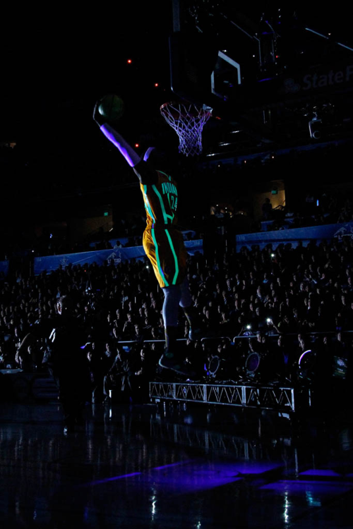 mrwaynezworld:  Tron Dunk did look dope I must say