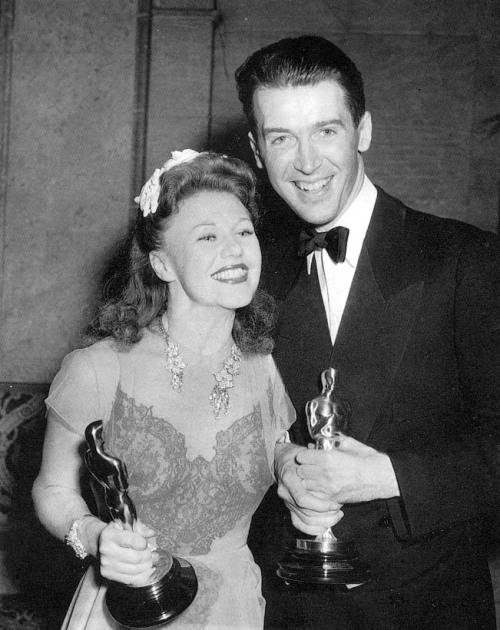 Ginger Rogers and Jimmy Stewart, Academy Awards, 1941