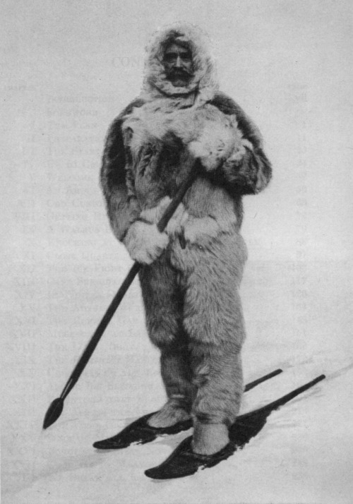 calmfrost:  Robert E. PEARY in North Pole garments. Library of Congress.