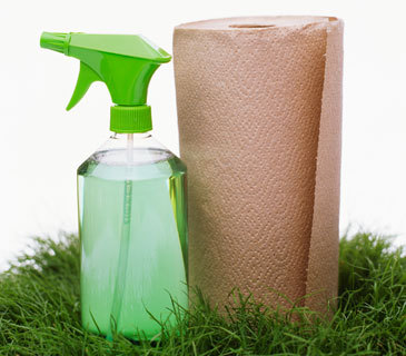 "Resources:  Clean Your House Without Dangerous Chemicals ..  ""Homemade cleaning recipes, or ""green"" products, are easily found online,  and will do as good a job as any chemical product you have in the  pantry now.""  .   Get your house clean for spring without chemicals  ""…to make your own cleaning products, you'll need vinegar, baking soda,  lemon juice, washing soda (Borax), olive oil and hydrogen peroxide. The  latter is especially good to use on mold and mildew in bathrooms. Olive oil (or soy bean oil) makes good furniture polish."" . If you are thinking of switching to more natural products, the  Environmental Protection Agency says to look on product labels for these  factors:   » Minimizes exposure to concentrates   » No ozone depleting substances   » Recyclable packaging   » Recycled-content in packaging   » Reduced bioconcentration factor   » Reduced flammability   » Reduced or no added dyes, except when added for safety purposes   » Reduced or no added fragrances   » Reduced or no skin irritants   » Reduced or no volatile organic compounds   » Reduced packaging _________________________  Solutions  ChemicalFreeLife.tumblr.com says: There are many recipes available for effective, natural home-made cleaning products.  Start with these: .  Recipes:  Chemical-Free Cleaning  Natural Cleaning Recipes   Pantry Recipes for Homemade Cleaning Products 