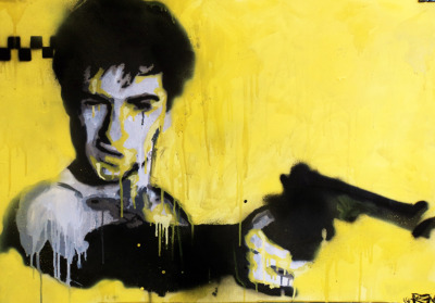 "eatsleepdraw:  ""You Talkin' To Me?""Oils and Spray paint. 86x61cm. 2010"