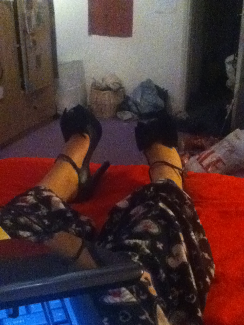 Writing my dissertation in 5 inch heels yer boy hahah