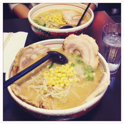 Hand made ramen with miso broth and fatty pork