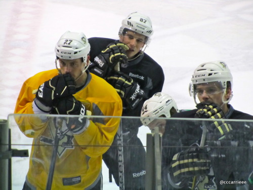 Sid, Adams & Z listen to Coach Disco. XOXO (2/23/12 Iceoplex at Southpointe)