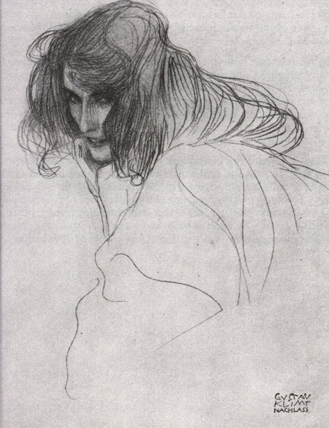 Sketch by Gustav Klimt