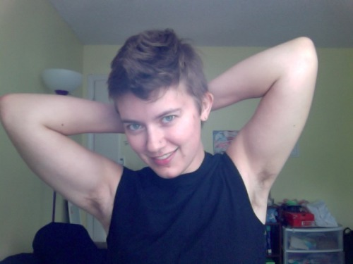 hairypitsclub:  I love my hairy pits. I stopped shaving in October 2010 and wish I were hairier!