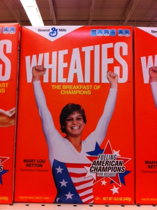 Saw 1984 Olympic Champion Mary Lou Retton at the grocery store this morning :)