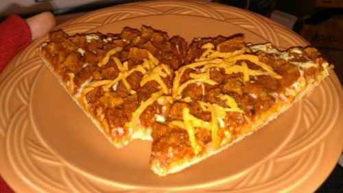 reblogged from learningvegan:  Pizza Sunday Forever: Tofurkey pepperoni pizza for breakfast. I got this with the coupon I won in the vegan pizza contest. I added a lil extra Daiya sprinkle on top.  Free pizza! (But not for life. Sad panda.)