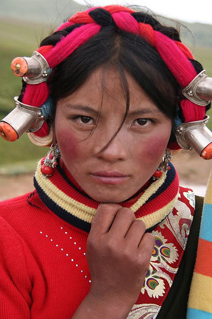 faith-in-humanity:  Tibetan woman. by joshmaxwell on Flickr.