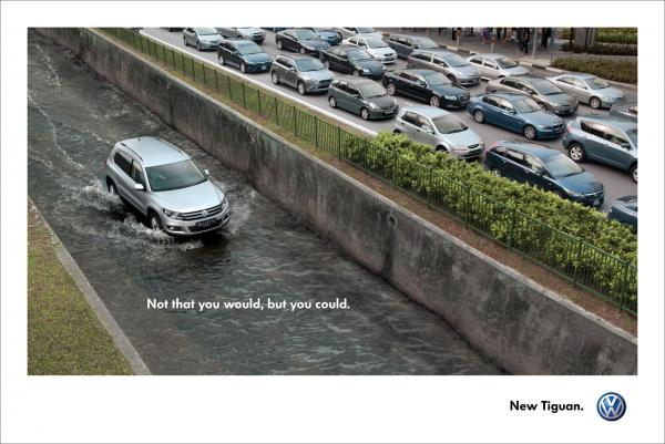 adsbyad:  Not that you would, but you could. New Tiguan.