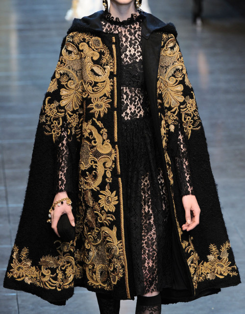 idreamofaworldofcouture:  Dolce and Gabbana Autumn/Winter 2012