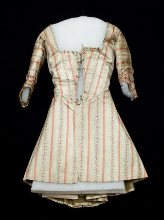 Silk caraco, Snowshill Collection, c. 1780-90