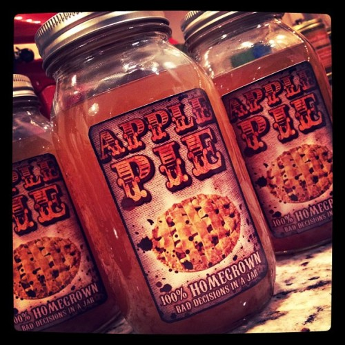 Completed Apple Pie, with labels, Part 2. (Taken with instagram) Because I don't believe in hiding such a secret (or because I am perhaps evil), the recipe for this concoction can be found here, at my main blog.  http://amyhouser.blogspot.com/2012/02/theory-of-pie.html