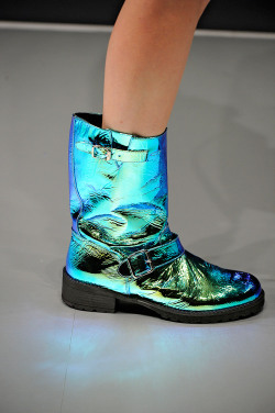 tonyonopka:  Blumarine Fall/Winter 2012 Boots Holy shiiiiit. I want need these like ASAP. I can already see myself pairing them with an all black ensemble. Call me tacky, but these boots are SO cute. Anna Molinari is the queen of tacky chic<3