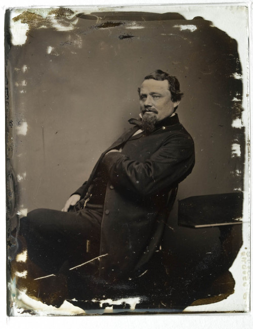 legrandcirque:  Ambrotype portrait of a man, ca. 1860.