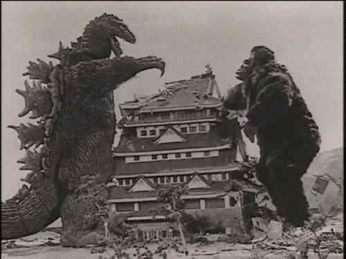 Little known fact about Godzilla vs. King Kong: the King Kong in the film is actually a man in a gorilla suit.