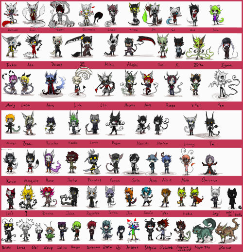 draw all the characters! [global ref] by *De-Loft  this is the hugest work I ever done! %0