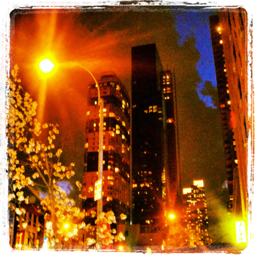 City Lights and Blue Skies Downtown Newyork