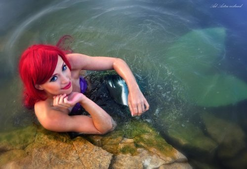 "Ariel Disney cosplay by ~Kawaielli ""Want to go for a swim?"""