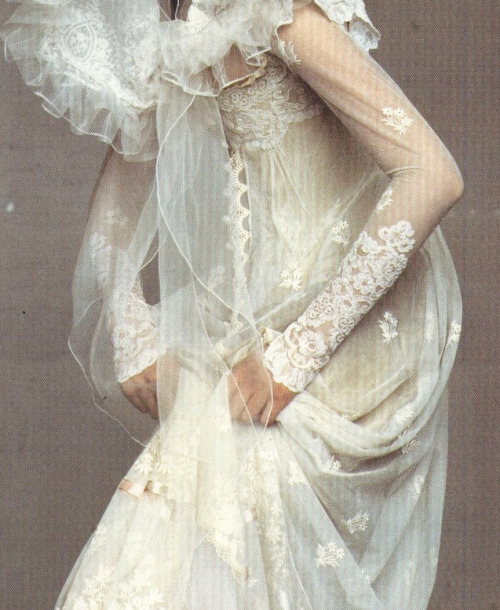 """The Glorious Tradition"". Shalom Harlow in Christian Lacroix by Irving Penn for Vogue US December 1995"