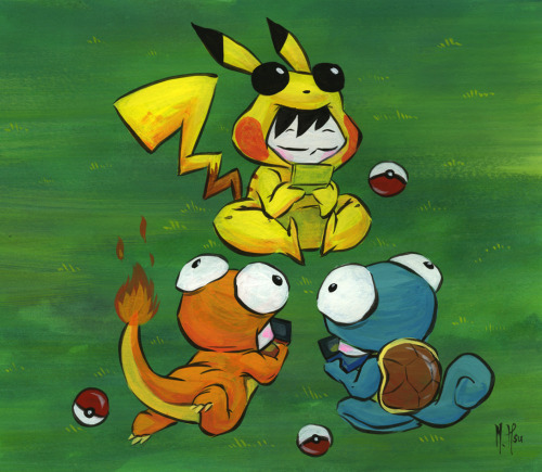 "A Pokemon ""Otaku Outing""!  Which of them is you?? Original painting now available here."